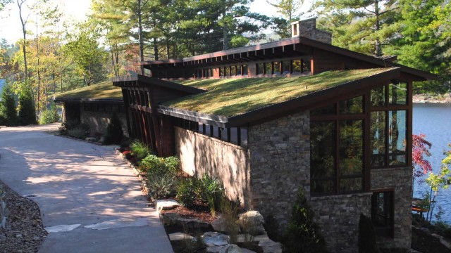 Private Lake Toxaway, NC Residence Green Roof – Project of the Week 9/8/14