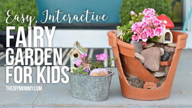 Make an Easy, Interactive Play Fairy Garden for Kids