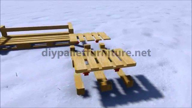 Pallet sofa for our garden