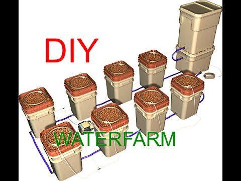 DIY (Waterfarm)Build a multiple bucket hydroponics system.(Dutch bucket)
