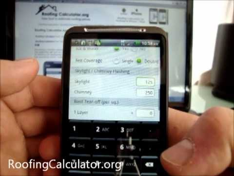 How to use ROOFING CALCULATOR – p2