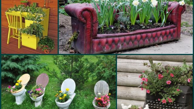 Garden Decorating Ideas – Recycle Old Furniture