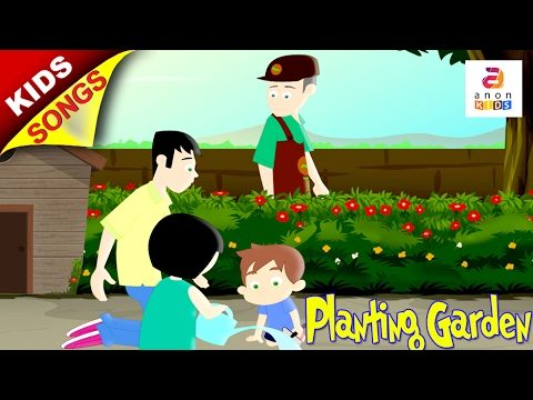 Planting the garden English Song | Song for Kids | Animated Rhymes for Children English with Action