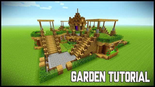 MINECRAFT BEAUTIFUL GARDEN!!! Garden Decoration Ideas! Underground survival base – Tutorial