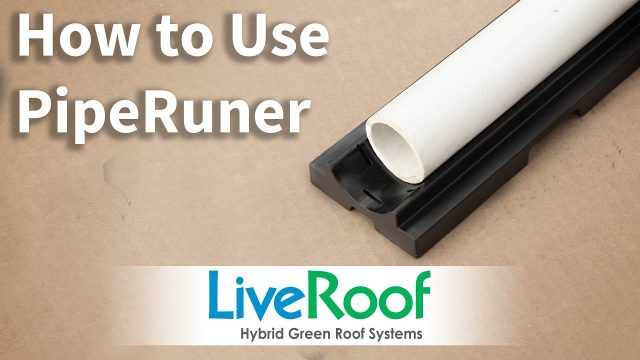Simple Irrigation Solution for Green Roofs: PipeRunner by LiveRoof