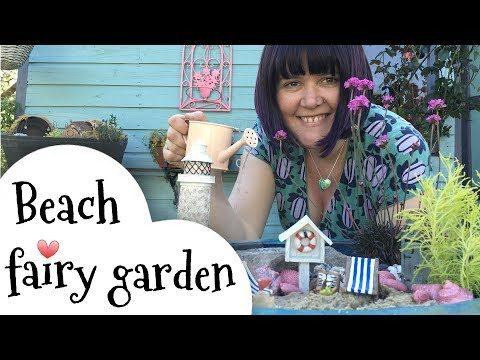 Cute fairy garden ideas, beach fairy garden.