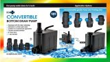Hydroponics Water Pump (EcoPlus, Flexible and Convertible Horizontal to Vertical)