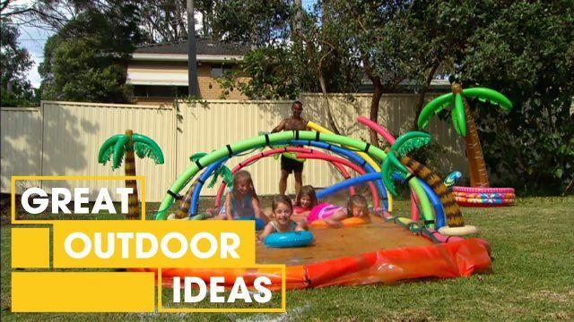 Adam's ultimate slip 'n slide   Great Home Ideas