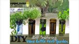 Self-Watering Wine Bottle Herb Planter – Hydroponic Indoor Garden!