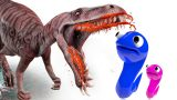 Bad baby vs GIANT DINOSAUR in the Garden Learn colors  with Johny Johny YES PAPA for Kids