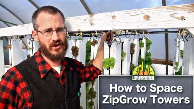 Spacing ZipGrow Vertical Farming Towers
