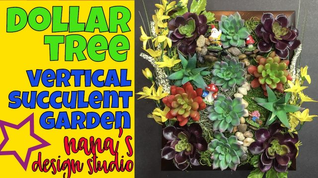 🏡🌻🍏Dollar Tree Vertical Succulent Garden: Do-it-Yourself Framed Garden with Gnomes