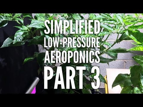 How to make an inexpensive low-pressure aeroponics system – Improved version – Part 3