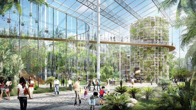 Vertical farm designed to produce food amidst Shanghai's skyscrapers