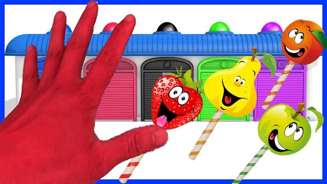 Finger Family w Fruits family Colours ! Learn Color Video for kids! Garden Kids TV #5
