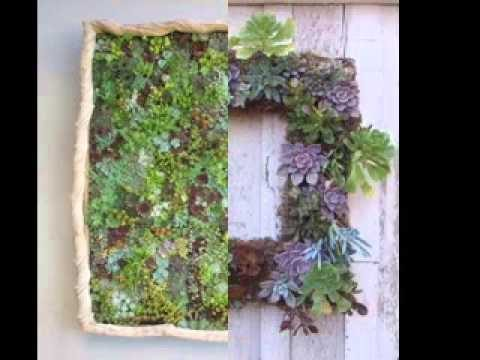 Easy succulent vertical garden ideas