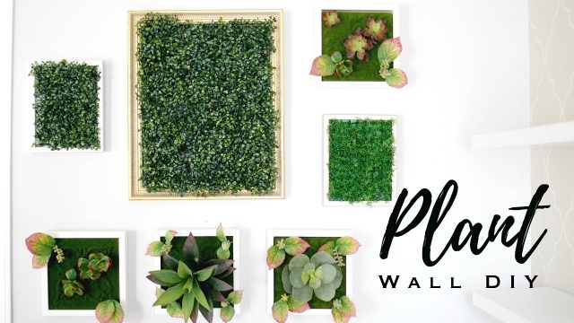 DIY FAUX PLANT WALL ART